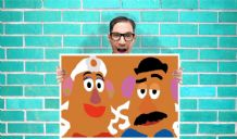 Toy Story Mr and Mrs Potato head Art - Wall Art Print Poster   - Kids Children Bedroom Geekery
